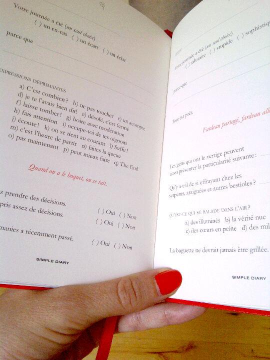 Simple Diary rouge de Keel's