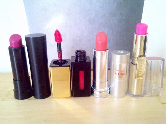 Rouges à lèvres roses
