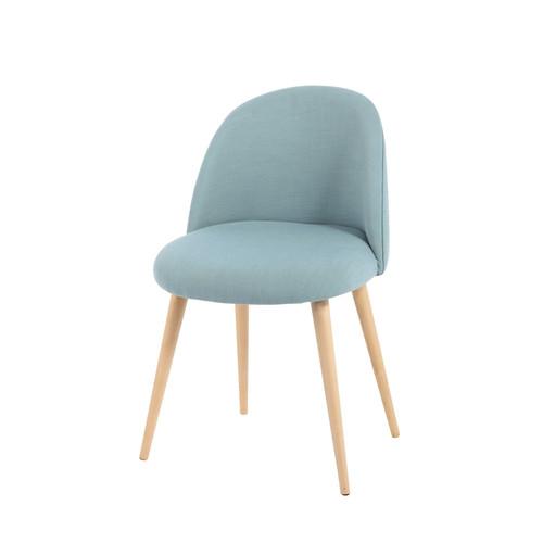 chaise-vintage-tissu-bouleau-massif-bleu-maisons-du-monde