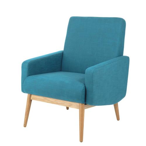 fauteuil-vintage-tissu-bleu-petrole-maisons-du-monde